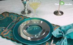 Opulent Silver Trimmed Fancy 10.25  Plastic Plates Silver/Clear - 50ct & Opulent Silver Trimmed Fancy 10.25