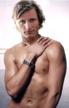 Lord of the Rings! #LoTR #ViggoMortensen < I wonder if this was photoshopped? In real life, Viggo has a few tattoos...