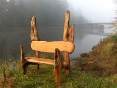 Bench by Jeffro Uitto, from Knock on Wood, on the Washington coast.