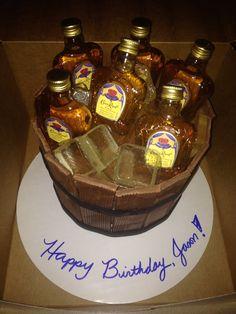 Crown Royal Ice Bucket Cake #CrownRoyal #icebucket #birthday #cake #sugaricecubes #SomethingSweetTX