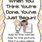 This is a quote from Lucy Calkin's Writer's Workshop.  Hang this mini-poster in your classroom to help students stay focused and to encourage them ...