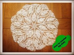 "How to crochet big doily  17"" diameter - Part 1 of 3 - YouTube"