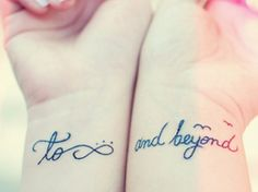 To Infinity And Beyond Wrist Tattoo | Ruth Tattoo Ideas