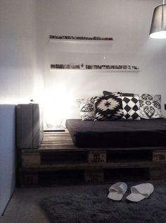 vierashuone,pallets,fin-lavat,diy valaisin,diy sänky,makuuhuone,Tee itse - DIY,kuormalavat,kuormalava,talja