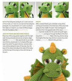 Ravelry: Drake the Dragon pattern by Moji-Moji Design – BuzzTMZ Crochet Dinosaur Patterns, Crochet Amigurumi Free Patterns, Crochet Stitches Patterns, Baby Knitting Patterns, Knitting Toys, Dragon En Crochet, Crochet Dragon Pattern, Crochet Baby Toys, Crochet Bunny