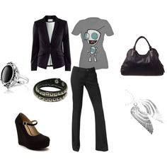 black and gray office zim by elizabeth-mauch-bergeron on Polyvore