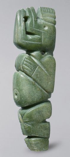 Masked Figure Pendant, 4th–8th century Costa Rica; Atlantic Watershed Jade. The Metropolitan Museum of Art