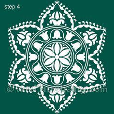 Bengal Rangoli Step 4