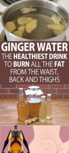 Lose Weight With Ginger Water: The Healthiest Drink To Successfully Burn Excess Fat On Your Waist, Hips And Thighs! (Recipe) - Remedies Tip Detox Drinks, Healthy Drinks, Healthy Tips, How To Stay Healthy, Healthy Habits, Healthy Detox, Healthy Smoothies, Healthy Foods, Healthy Recipes