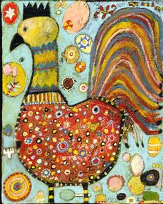 I would love an original Jill Mayberg piece of folk art for my kitchen