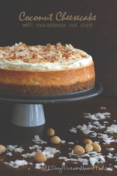 Coconut Cheesecake with Macadamia Nut Crust - this is divine, #lowcarb #glutenfree #sugarfee