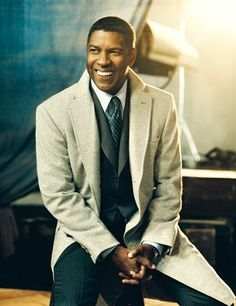 Denzel Washington - Click image to find more Men's Fashion Pinterest pins