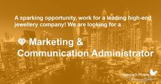 Work for a prestigious and internationally recognised #luxury fashion house! We are #hiring a #marketing &#communication #administrator in #Dubai! English is required and French is a plus: http://www.approachpeople.com/international/job-description/?id_job=13810