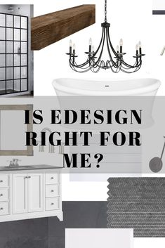 In Person Interior Design or E-Design, Which Service is Right For You? Kitchen And Bath Design, Laundry Room Design, Dining Room Design, Online Interior Design Services, Bedroom Design Inspiration, Construction Documents, Style Store, Entry Way Design, Modern Farmhouse Bathroom