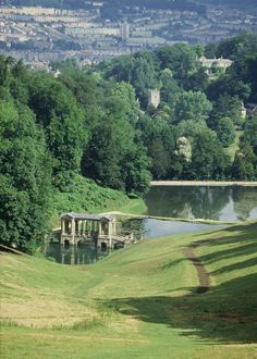Prior Park and the City of Bath (GB) - Capability Brown, advisor in design along with poet Alexander Pope Park Landscape, Landscape Plans, Abstract Landscape, Landscape Architecture, Landscape Design, Garden Design, English Landscape Garden, Visit Bath, Walking Holiday