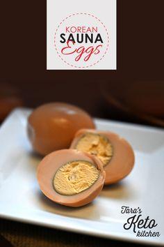 Haven't heard of Korean Sauna Eggs? This Korean Sauna Eggs is a very popular Korean snack. Keto Egg Recipe, Egg Recipes, Low Carb Breakfast, Breakfast Recipes, Egg Calories, Low Carb Drinks, Best Low Carb Recipes, Best Keto Diet, Some Recipe