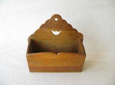 Vintage Wood Letter Holder $20