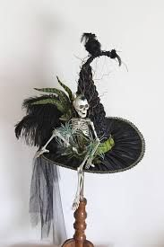 Skeleton Heirloom Victorian Witch Hat by Studio Sisu Witches Halloween Witch Hat, Halloween 2019, Holidays Halloween, Halloween Crafts, Halloween Decorations, Witch Hats, Diy Witch Hat, Fall Crafts, Halloween Party