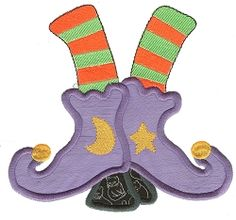 JUMBO Witch Boots Applique - 8x8 and Larger! | Halloween | Machine Embroidery Designs | SWAKembroidery.com Designs by Juju