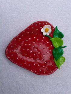 Polymer Clay Strawberry Trinket/Jewelry/Loose by WolfArtStudio, $19.00