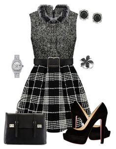 Untitled #488 by angela-vitello on Polyvore featuring polyvore, fashion, style, Christian Louboutin, Prada, Rolex, Mark Broumand, Effy Jewelry and clothing