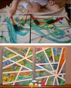 Kid's art project.