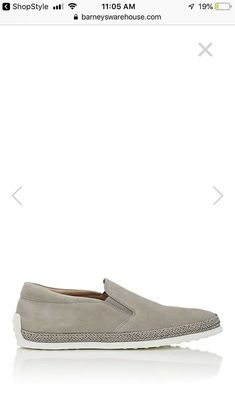 50332d71a8b Tods Suede Espadrille Sneakers- Light Grey Size US 11 Men  fashion   clothing