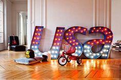 Decoração com letras iluminadas   DIY