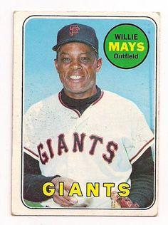 topps baseball cards | 1969 Willie Mays 190 Topps Baseball Card Hi Grade MK 013 | eBay