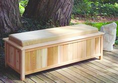 Patio Bench. Lid lifts up for storage.