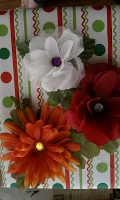 Floral Hair Pins! So cute for your Operation Christmas Child shoe boxes.