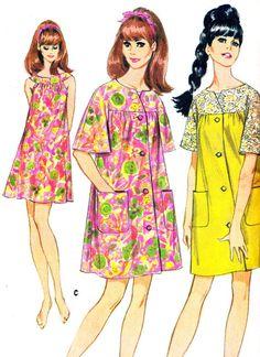 1960s Nightgown Pattern McCalls 9009 Womens Yoked by paneenjerez, $12.00