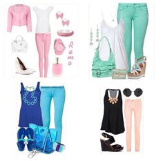 pastel skinny jeans outfits