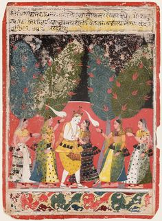 Opaque watercolor and gold on paper, Malwa, Central India, ca. India Painting, Indian Music, India Art, Indian Artist, Arabian Nights, Museum Of Fine Arts, Animal Quotes, Wedding Humor, Woodblock Print