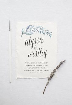 Organic Wedding Invitation Suite DEPOSIT, DIY, Rustic, Calligraphy, Bohemian, Garden, Custom, Watercolor, Outdoorsy (Wedding Design #81)                                                                                                                                                                                 More