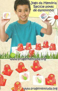 Como fazer um jogo da memória com potes de danoninho - Pra Gente Miúda