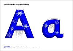 Winter-themed display lettering (SB1886) - SparkleBox