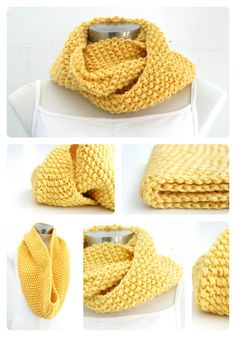Chunky knit cowl.