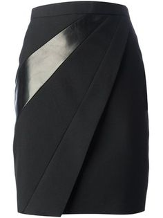 Saint Laurent panelled pencil skirt