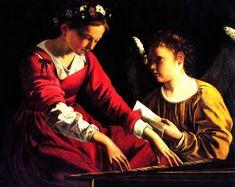 Saint Cecilia, Patroness of Musicians  by Artemisia Gentileschi, 1597-c.1651