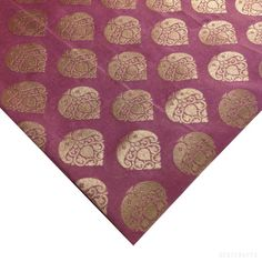 Onion Skin Pink and Gold Pure Silk Fabric Half Yard by DesiFabrics, $18.00
