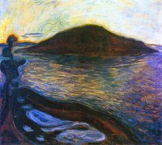 "igormaglica: "" Edvard Munch (1863-1944), The Island, 1900-01. oil on panel, 99 x 108 cm """