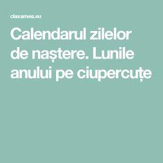 Calendarul zilelor de naștere. Lunile anului pe ciupercuțe Calendar, Life Planner