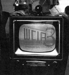 WCIA Channel 3 was one of the first TV stations in Illinois, along with WGN in Chicago. My dad was one of the first employees of WCIA and became the children's show personality Sheriff Sid. Urbana Illinois, Decatur Illinois, Central Illinois, Vintage Television, Television Tv, Midwest City, Illinois Fighting Illini, Tv Station, Oak Park