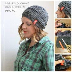 Simple Slouch Hat Free Crochet Pattern