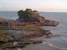 Visiting Tanah lot temple is always amazing experience, specially for Great Sunset ( if you are lucky ?? ) . Tanah Lot is loaded today, packed with people dress in white coz temple festival. Enjoy your Bali Day Tour ! Cheers!
