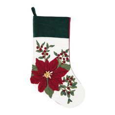 LAST 1 Colorful Dinosaur on Black and Chenille Handmade Christmas Stocking with FREE U S SHIPPING