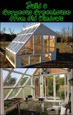This greenhouse made from old windows is not just beautifully built – it is also properly designed for function! Is this going to be your next project?
