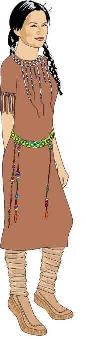 Sacagawea paper doll & 3 outfits #paperdollsbygail