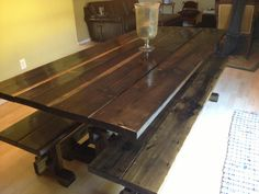 1000 images about trestle on pinterest trestle table farmhouse and live edge slabs. Black Bedroom Furniture Sets. Home Design Ideas